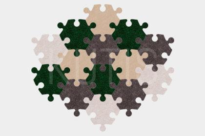 Stūrainais - Zaļš/pelēks/bēšs