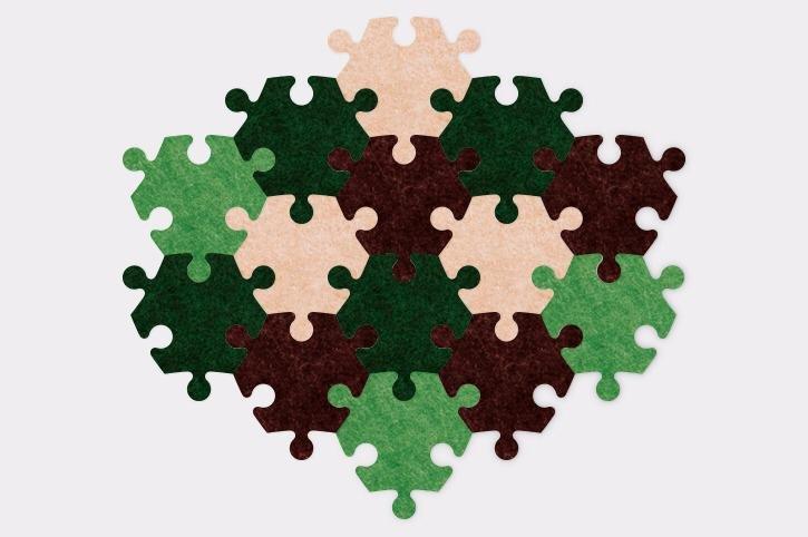 Stūrainais - Brūns/zaļš