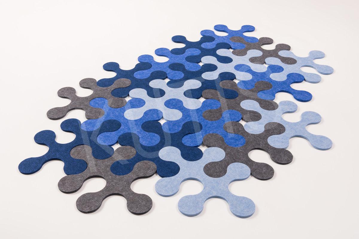 Round - Blue/gray